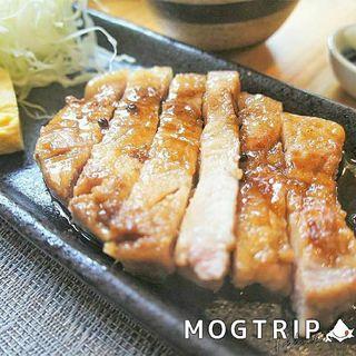米愛豚のトンテキご膳 ~有馬山椒仕立て~(米愛豚とおばんざい みかみ)