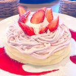 苺クリームリコッタパンケーキ