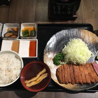 牛カツ麦飯定食(牛かつもと村 ルクア店)