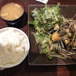 肉野菜炒め定食(肉十八番屋 人形町店)