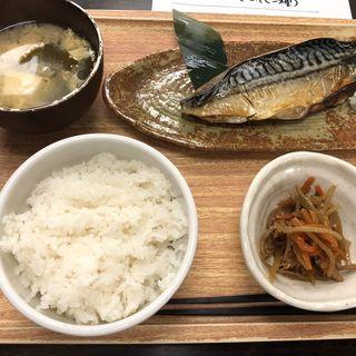 さば塩焼き定食(魚豊 人形町店)