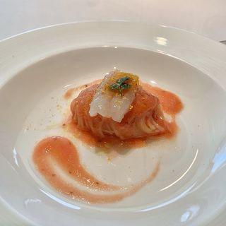 縞海老とアメーラトマトの冷製カッペリーニ(カノビアーノ アネックス (CANOVIANO ANNEX))