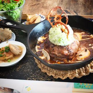 菜花 ハンバーグ定食(菜花)