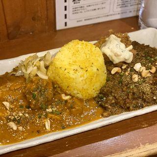 """カレー2種盛り(AB)((食)ましか ((食)ましか Platform of """"""""EAT""""""""))"""