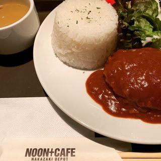 デミグラスソースハンバーグ(NOON+CAFE)