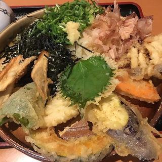 野菜天ぶっかけ(大地のうどん)