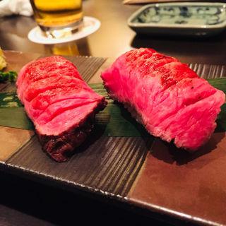 牛炙り寿司(荒井屋 本店 (あらいや))