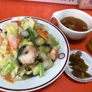 海老揚げソバ(塩味)(中山飯店 (ナカヤマハンテン))