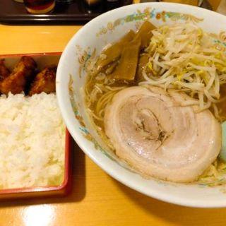 Aセット(醤油ラーメン+唐揚げ弁当)(静雨庵)