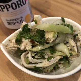 美桜鶏胸肉蒸し鶏とセロリのサラダ(ミャンカー (miankah))