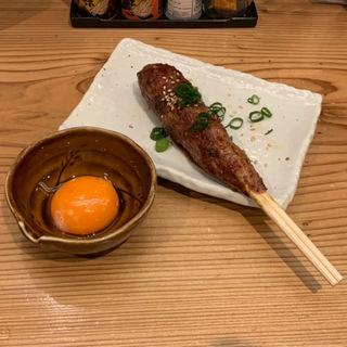 つくね 卵黄付(鶏寛 仙台店)