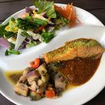 [C] 練馬農園サラダと本日のメインランチ(本日のお魚ORお肉よりお選び下さい)