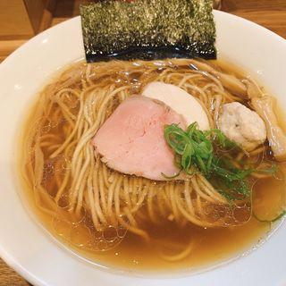 地鶏醤油(自家製麺純)
