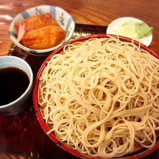 もりそば+稲荷寿司(巴屋 )
