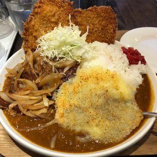 野朗カレー + チーズ(キッチン男の台所)