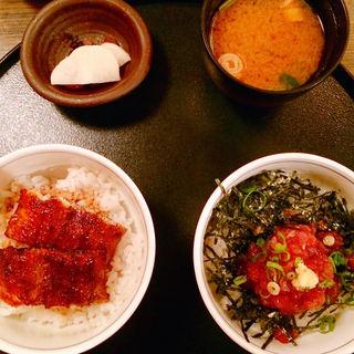 ミニまぐろ丼/ミニうなぎ丼セット(ひつまぶし 稲生 エスカ店 (いのう))