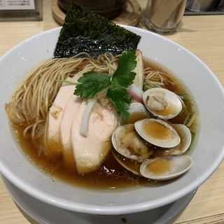 鶏 煮干 蛤 のトリプルSOBA(むぎとオリーブ 日本橋店)