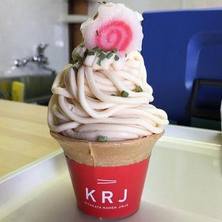 喜多方ラーメンソフトクリーム