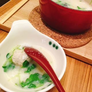 鶏つくねと塩麹のコラーゲン茶鍋(茶鍋cafe saryo サンシャインシティ店 (チャナベカフェ サリョウ))