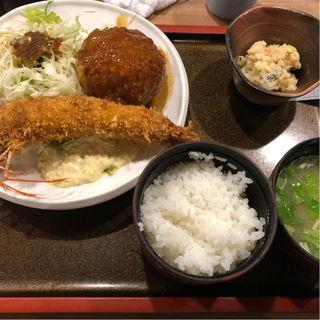 大海老フライとコロッケ定食(佐海たちばな )