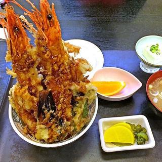 海老天丼定食(いわ舟 )
