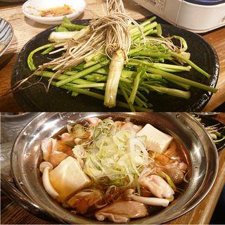 国産鶏の仙台せり鍋(2人前)(武屋食堂 広瀬通り店 )