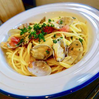 あさりと竹の子春トマトのオイルソース(イタリア料理 CIBI)