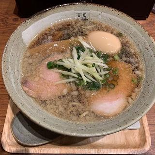 アグー背脂入り味玉醤油らあめん(麺処 天川)