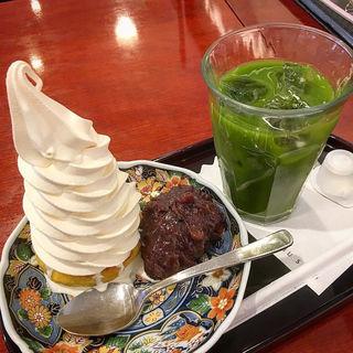 クリームスイートポテト小倉餡 アイス抹茶(麻布茶房)