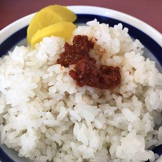 ご飯小(スタミナ辛子は卓上調味料)