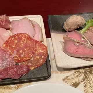 お肉屋さんプレート(中)(日本ワインとスパイス ブロディ)