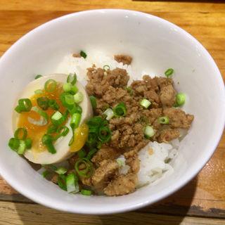 味玉ひき肉ご飯(千極煮干 (センゴクニボシ))