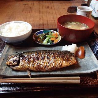 鯖の塩焼定食