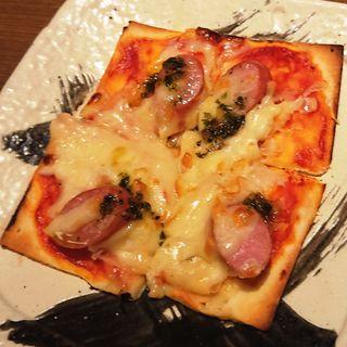 たっぷりチーズのソーセージピザ(えこひいき 阪急三宮駅前店 )