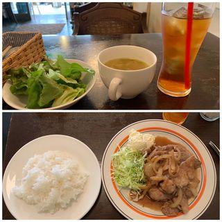 ポークジンジャー(日替わり定食)(カフェ misty (ミスティー))