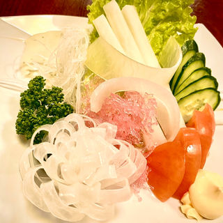 野菜サラダ(田舎茶屋)