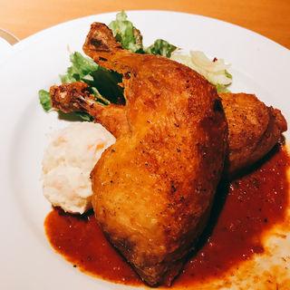 カリカリ骨付きの若鶏のコンフィ クリームリゾット付 2本(Dobro (ドブロ))