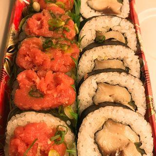 ネギトロ大漁高菜巻と鯖太巻(タキモト)