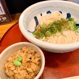 生醤油うどん定食(江戸堀 木田 讃岐うどん )