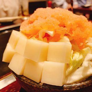 明太子もちチーズ もんじゃ(海鮮もんじゃ もへじ )