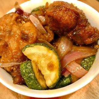 美桜鶏黒酢炒め