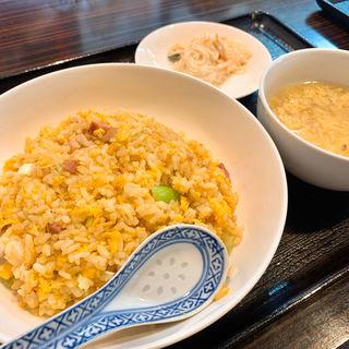 炒飯定食(チリレンゲ )