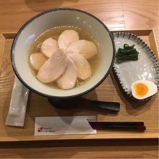 鶏塩中華そば(肉)(ハチ花乃)