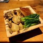 牡蠣と原木椎茸の山椒煮