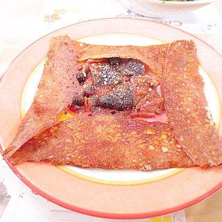 ロースハムと茄子としめじのトマト煮(チーズ&卵いり) (クレープリー・アルション (Creperie Alcyon))