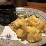 イカの天ぷら(活き造り)