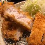 ロースかつ膳「梅」100g(ご飯・味噌汁・お新香付き)(とんかつ武信)