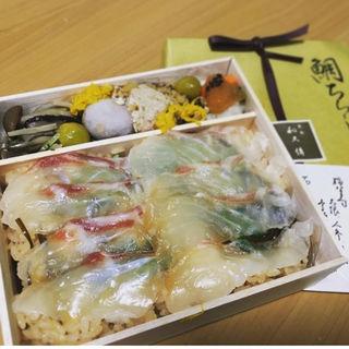 鯛ちらし二段弁当(紫野和久傳 京都伊勢丹店 (わくでん))