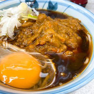 キーマカレーそば + 玉子(柳屋そば店)