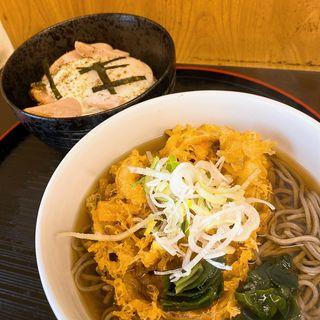 目玉焼き丼セット + かき揚げ(てっちゃん )